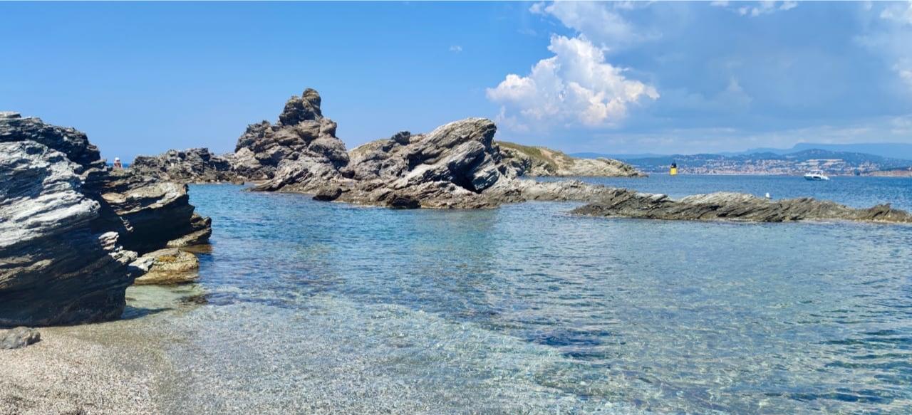 Лазурный берег пляж Эмбье