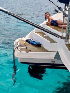 Сардиния голубое море катамаран