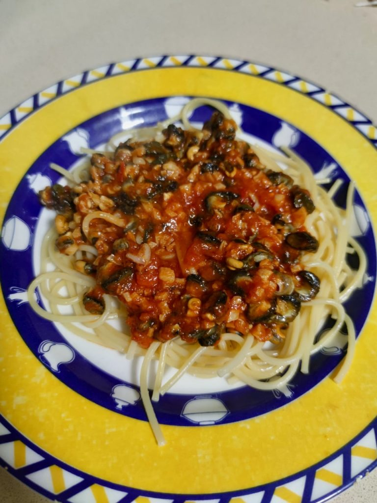 спагетти с улитками